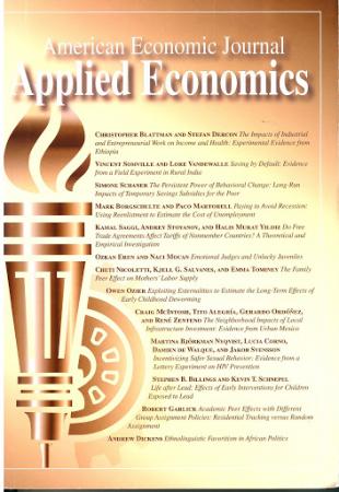 American economic journal. Applied economics